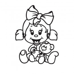 Samolepící dekorace dítě v autě Holka a medvídek
