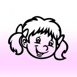 Samolepka dítě v autě se jménem – Holka s mašlemi