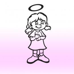 Samolepka dítě v autě se jménem – Holka anděl