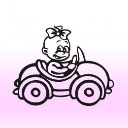 Samolepka dítě v autě se jménem – Holka v autě