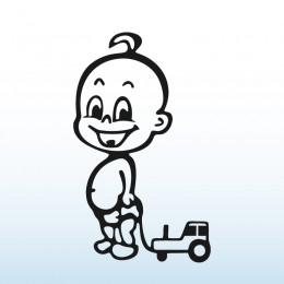 Samolepka dítě v autě – Chlapeček s traktorem
