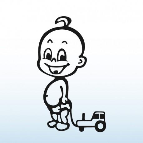 Samolepka dítě v autě Chlapeček s traktorem