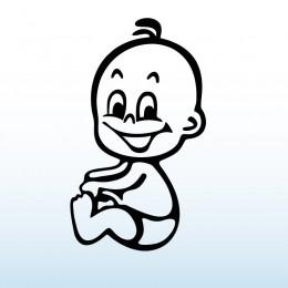 Samolepka dítě v autě – Chlapeček sedící