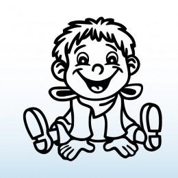 Samolepka dítě v autě se jménem – Klučina s šátkem