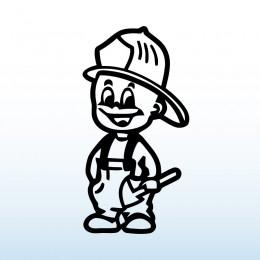 Samolepka dítě v autě Malý hasič