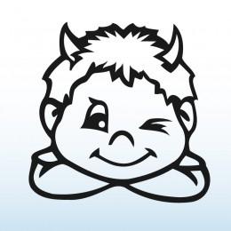 Samolepka dítě v autě se jménem – Kluk ďáblík