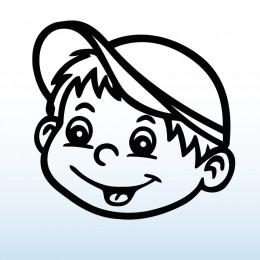 Samolepka dítě v autě Kluk v čepici