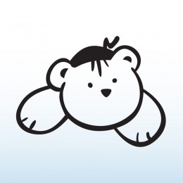 Samolepka dítě v autě se jménem – Medvídek