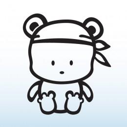 Samolepka dítě v autě se jménem – Medvídek pirát
