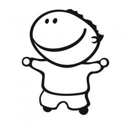 Samolepka dítě v autě se jménem – Usmívající se kluk