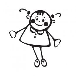 Samolepka dítě v autě se jménem – Holka panenka