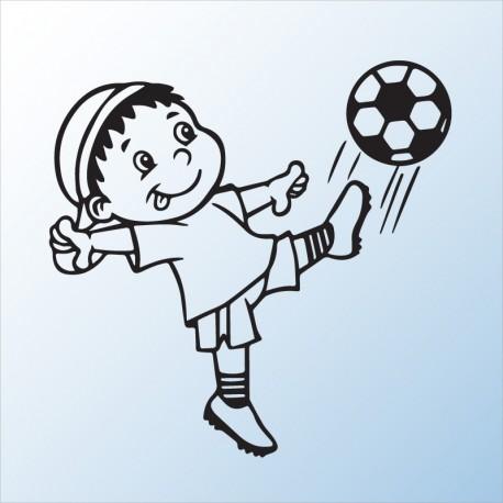 Samolepící dekorace dítě v autě Chlapeček fotbalista