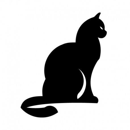 Samolepka na auto Sedící kočka