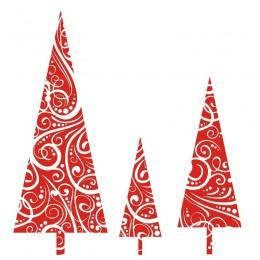 Samolepka vánoční Tři vánoční stromky