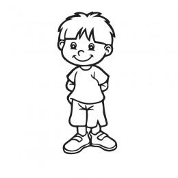 Samolepka dítě v autě se jménem – Veselý klučina