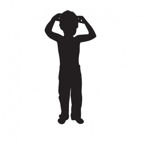 Samolepka dítě v autě se jménem Silueta kluk 3