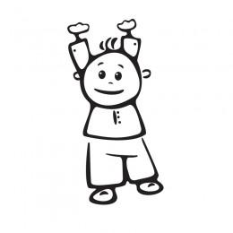 Samolepka dítě v autě se jménem – Kluk visící