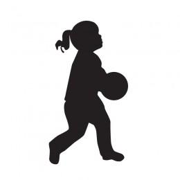 Samolepka dítě v autě se jménem – Silueta holka