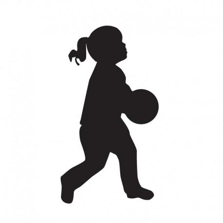 Samolepka dítě v autě Silueta holka