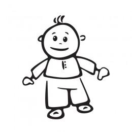 Samolepka dítě v autě se jménem – Malovaný panáček