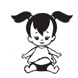 Samolepka dítě v autě se jménem – Culíkatá holčička