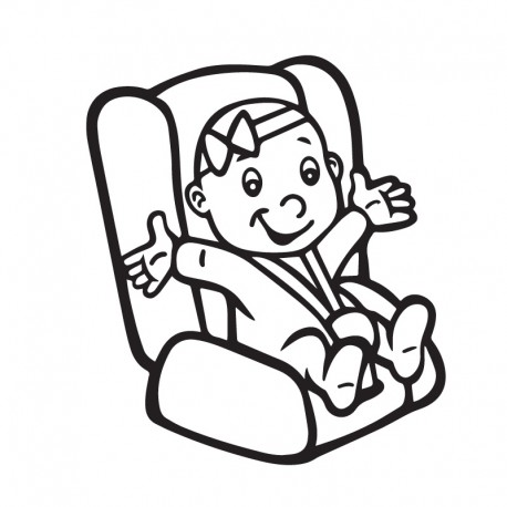 Samolepka dítě v autě Holka v sedačce