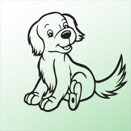 Samolepka pes v autě – Pejsek 2