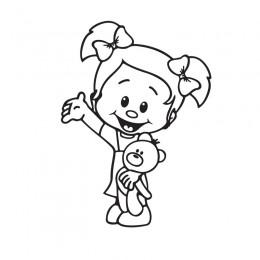 Samolepka dítě v autě se jménem – Culíkátá s medvídkem