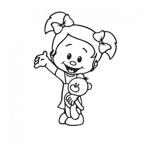 Samolepka dítě v autě Culíkátá s medvídkem