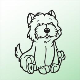 Samolepka pes v autě – Pejsek 4