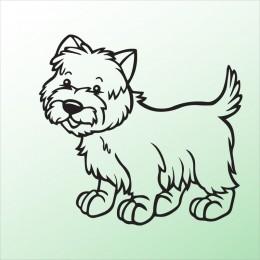 Samolepka pes v autě – Pejsek 5