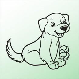 Samolepka pes v autě – Pejsek 7