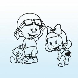 Samolepka děti v autě se jmény – Velký bráška s malou sestřičkou