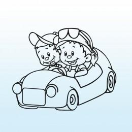 Samolepka děti v autě se jmény – Bráchové v autě