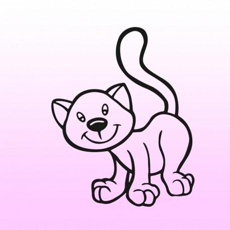 Samolepka kočka v autě – Kočička 1