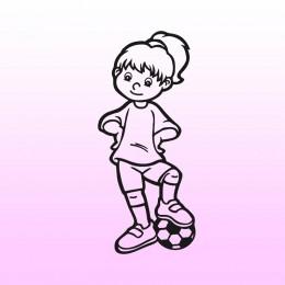 Samolepka dítě v autě se jménem – Holka fotbalistka