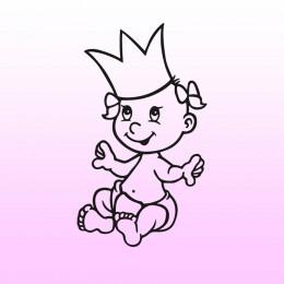 Samolepka dítě v autě se jménem – Malá princeznička