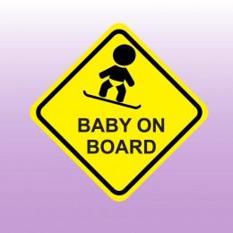 Baby on board - barevná samolepka dítě v autě