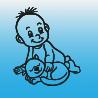 Samolepka dítě v autě se jménem – Kluk s kočkou