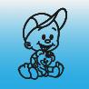 Samolepka dítě v autě se jménem – Kluk a méďa