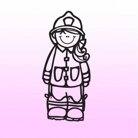 Samolepka dítě v autě se jménem – Malá hasička