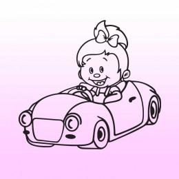 Samolepka dítě v autě se jménem – Malá slečna v autě