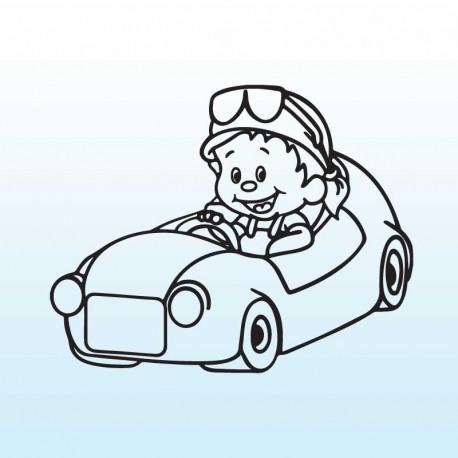 Samolepka dítě v autě se jménem – Malý kluk v autě