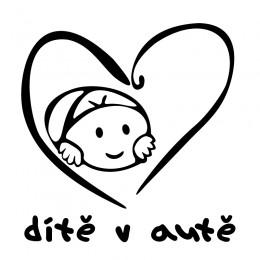 Samolepka dítě v autě – Chlapeček v srdci