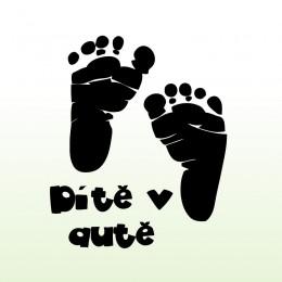Samolepka dítě v autě – Dětské stopy